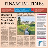 Ireland has made the front page of the Financial Times again...