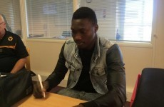 Player is photographed signing loan deal, is actually signing a table