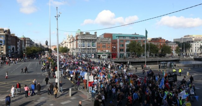 Tens of thousands take to the streets of Dublin to protest against water charges