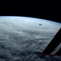 This is what a massive typhoon looks like from space