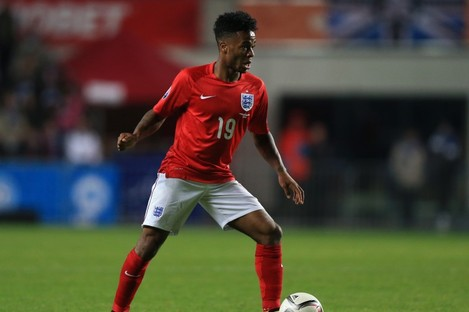 England's Raheem Sterling pictured during last night's UEFA Euro 2016 Qualifying match.