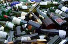 We recycle 37 glass bottles a week per head of population and they're mainly alcohol related
