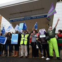 Pics: NHS workers stage first strike in 32 years
