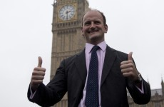 Britain's first Ukip MP has been sworn in - and he looks pretty happy about it