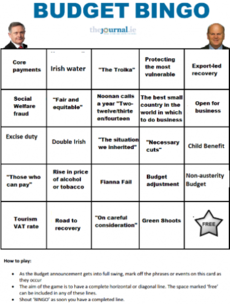 PLAY: Budget Bingo 2015