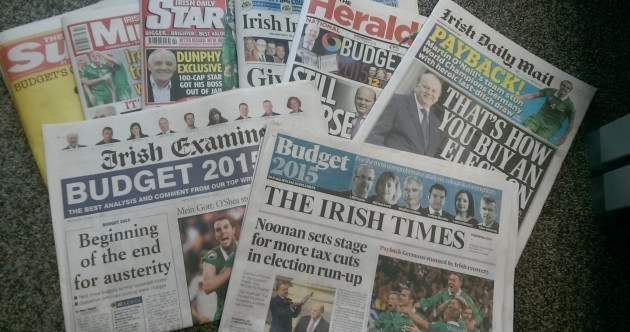 "Payback, buying an election and ""Be Happy"" - how the papers saw Budget 2015"