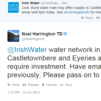 These TDs are resorting to Twitter to complain about Irish Water services...