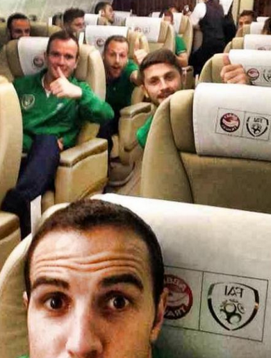 This quality John O'Shea selfie sums up how we all felt after last night's draw