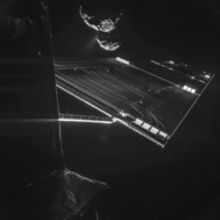 The Rosetta spacecraft took an incredible 'selfie' with a comet