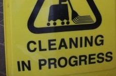 Man arrested for 'aggressively' mopping floor