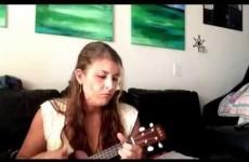 Messer cat rudely sabotages owner's ukulele video