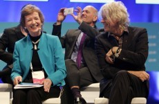 Bob Geldof made Mary Robinson laugh in Dublin last night