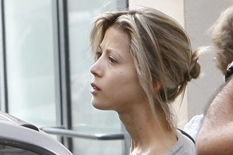 Tristane Banon gets into her car after leaving her lawyer's office in Paris earlier this week.