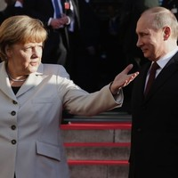 Angela Merkel cancelled a meeting with Vladimir Putin tonight - because he was late