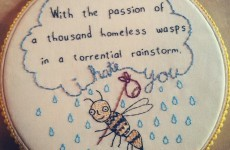 This woman is turning mean internet comments into wonderful embroideries