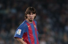 10 years on, here's a look back at a 17-year-old Lionel Messi's Barcelona debut