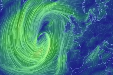 The weather picture in the Atlantic at the moment.