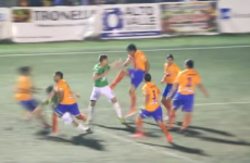 Everybody was kung fu fightin' in this Argentinian football brawl last night