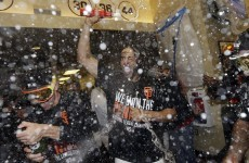 The Giants are going to the World Series - so one of their players chugged six beers to celebrate