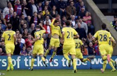 Chelsea win at Selhurst Park after a tasty Oscar free kick and a cool finish from Fabregas