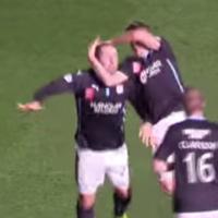 Unbelievable scenes as footballers do wrestling-style celebration