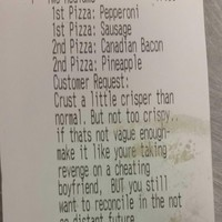 This is the most specific pizza order you will ever see
