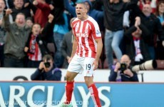A strong header from Jonathan Walters saw Stoke past Swansea