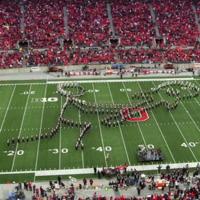 The Ohio State Marching Band continue to put the Artane Boys' Band to shame