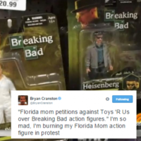 Bryan Cranston delivers Twitter burn to Breaking Bad doll protesters