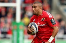 Munster's Zebo eager for head-to-head against 'nice guy' Chris Ashton