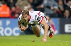 Andrew Trimble to miss November Internationals with toe injury