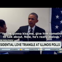 "Obama pulls smoothest move ever after voter tells him ""don't touch my girlfriend"""