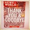 News of the World bids readers goodbye