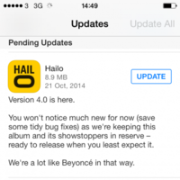 Hailo Ireland promises to pull a Beyoncé with its new app update