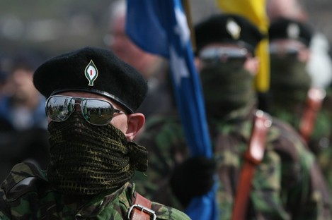 Real IRA members at a march in Derry