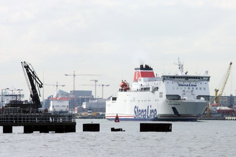 (File photo) Ferry at Dublin Port.