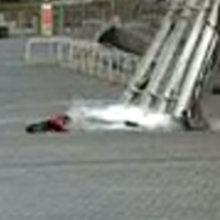 Close one: Ukrainian girl has lucky escape from explosive debris