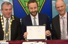 Chris O'Dowd slags local politicians as he accepts freedom of Roscommon