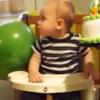 Toddler demonstrates the absolute correct way to eat a cake
