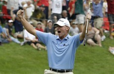 Stricker completes John Deere three-peat