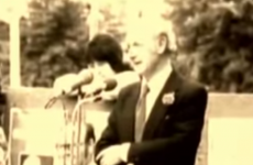 Check out this short video of former taoiseach Jack Lynch singing 'De Banks'