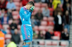 Vito Mannone made an absolute howler earlier on today