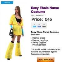 That 'sexy Ebola nurse' Hallowe'en costume is a fake