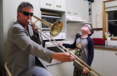 Father and son perform absolutely epic kitchen duet