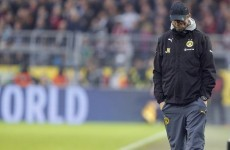 Jurgen Klopp admits his Dortmund team are struggling with 'the fear of not winning'