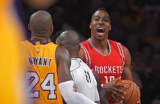 Kobe Bryant takes an elbow from ex team-mate Dwight Howard, calls him soft and then a teddy bear