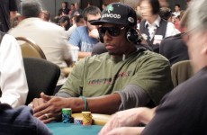 This basketball superstar has doubled his chip count at the World Series of Poker