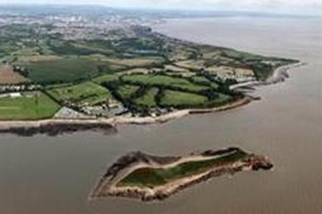 Sully Island lies off the coast of south Wales