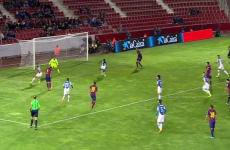 One scoop for me, please! Suarez served up a delicious assist for Pique last night