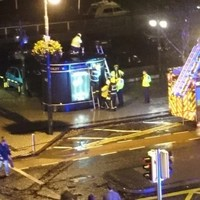 Someone got stuck in a Waterford public toilet and had to be freed by firefighters